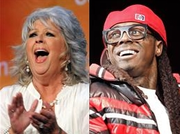 Paula Deen and Lil Wayne are shown in a combination photo.