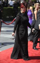 Sharon Osbourne arrives at the Creative Arts Emmy Awards on Saturday, Sept. 12, 2009, in Los Angeles.