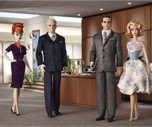 Behold, the Barbie Mad Men collection.