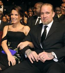 Sandra Bullock and husband Jesse James.