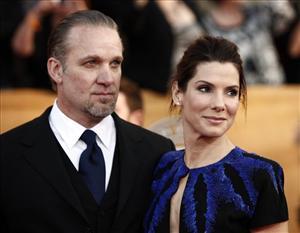 Sandra Bullock and Jesse James arrive at the 16th Annual Screen Actors Guild Awards in January in Los Angeles.