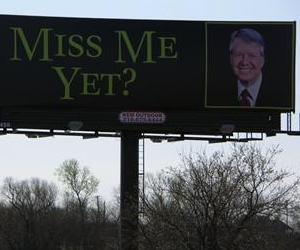 The Carter billboard, located in Ennis, Texas.