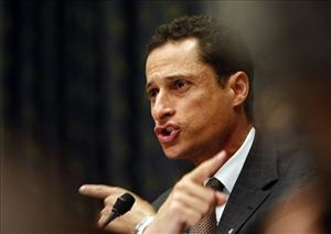 Rep. Anthony Weiner, D-N.Y., questions former Environmental Protection Agency head Christine Whitman on Capitol Hill in 2007.
