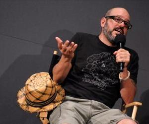 Comedian David Cross visits the Apple Store Soho on April 7, 2010 in New York City.