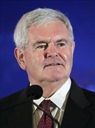 Newt Gingrich addresses the Southern Republican Leadership Conference in New Orleans,  Thursday, April 8, 2010.