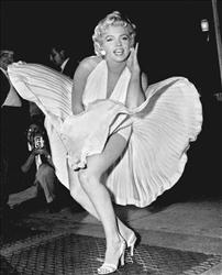The X-Ray was taken 2 months before this iconic image of Marilyn Monroe posing over the updraft of a New York subway grating while in character for the filming of The Seven Year Itch.