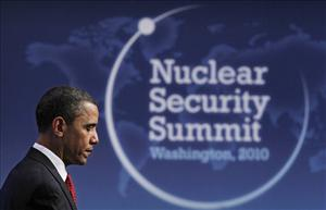 President Barack Obama pauses during a news conference at the conclusion of the Nuclear Security Summit in Washington, Tuesday, April 13, 2010.