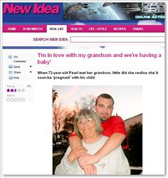 Pearl Carter and Phil Bailey are shown on the New Idea website.
