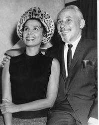 FILE -- In an Oct. 12, 1955 file photo singer and actress Lena Horne and her husband Lennie Hayton are photographed in their hotel room at the Savoy in London, England.
