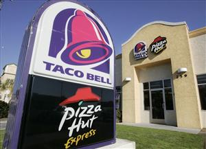 A Taco Bell and Pizza Hut in San Carlos, Calif.