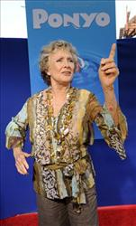 Cloris Leachman, who provides one of the voices in the animated film Ponyo, arrives at a special screening of the film in Los Angeles, Monday, July 27, 2009.