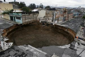Geologists warn that more sinkholes will appear in Guatemala City unless the government finds the money to carry out inspections of the sewer system.