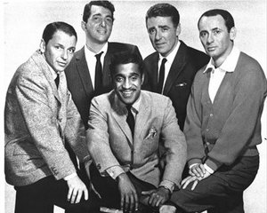 This file photo, originally provided by Warner Bros., shows, left to right: Frank Sinatra, Dean Martin, Sammy Davis Jr., Peter Lawford and Joey Bishop star in the 1960 Warner Brothers' movie, Ocean's Eleven. Bishop, the stone-faced comedian who found success in night clubs, television and movies but became most famous...