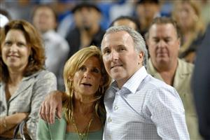 This Sept. 25, 2008 photo shows Los Angeles Dodgers owner and chairman Frank McCourt and his now-estranged wife Jamie McCourt in Los Angeles. Each of the McCourts claims the other hired Schpunt.