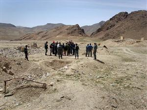 This April 2007 photo shows a delegation from the state-owned China Metallurgical Group Corporation, visiting the site of a copper mine in Aynak, a former al-Qaida stronghold southeast of Kabul.