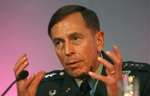 US General David H. Petraeus commander of United States central Command, CENTCOM, speaking at the Royal United Service Institute, Land Warfare conference in London, England, Wednesday, June 9, 2010.