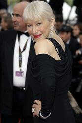 Actress Helen Mirren arrives at the premiere for the film Robin Hood, at the 63rd international film festival, in Cannes, southern France, Wednesday, May 12, 2010.