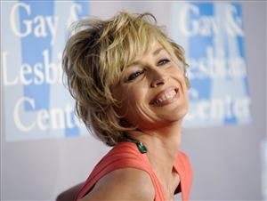 Actress Sharon Stone arrives at the Los Angeles Gay and Lesbian Center's An Evening with Women: Celebrating Art, Music and Equality, in Beverly Hills, Calif., Friday, April 24, 2009.