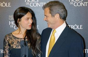 Mel Gibson and Oksana Grigorieva arrive at the Edge Of Darkness  Premiere in Paris Thursday Feb. 4, 2010.