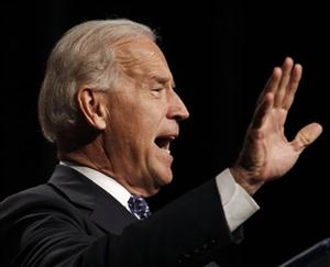 Vice President Joe Biden speaks at the annual Tennessee Democratic Party Jackson Day on Friday, July 16, 2010, in Nashville, Tenn.