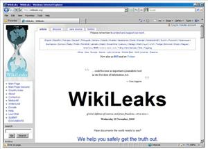 Screen grab from  Wikileaks, which recently released some 92,000 secret documents about the Afghanistan War.