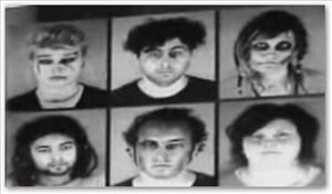 Booking photos of the six zombies arrested in Minneapolis.