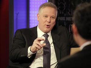 Radio and television personality Glenn Beck appears on the FOX & friends  cable television program in New York,  Tuesday, April 20, 2010.