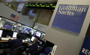 Traders work in the Goldman Sachs booth on the floor of the New York Stock Exchange, described as a hotbed of sexism by the plaintiffs.