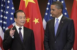 President Obama holds a bilateral meeting with Chinese Premier Wen Jiabao at the United Nations General Assembly yesterday.