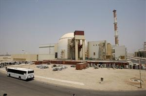 The reactor building of the Bushehr nuclear power plant.