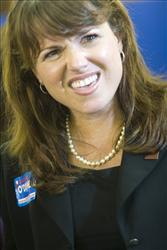 Delaware Republican Senate candidate Christine O'Donnell: apparently confused about her education.