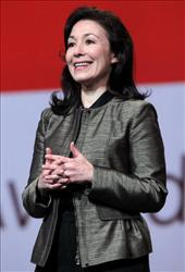 Oracle's Safra Catz is No. 2 at $36.4 million.