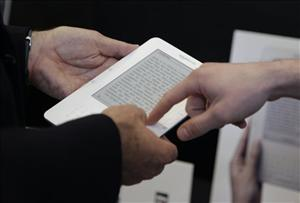 A file photo of a Kindle.