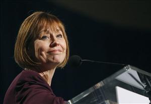 Nevada Republican Senate candidate Sharron Angle speaks to supporters at a rally Thursday, Oct. 21, 2010 in Las Vegas.