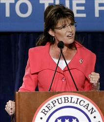 In this Oct. 23, 2010 file photo, former Alaska Gov. Sarah Palin speaks to supporters at a Republican National Committee rally in Orlando, Fla.