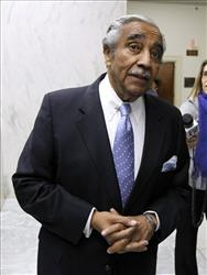 Rep. Charles Rangel, D-N.Y., waits for the elevator as he leaves his office on Capitol Hill in Washington, Thursday, Dec. 2, 2010.