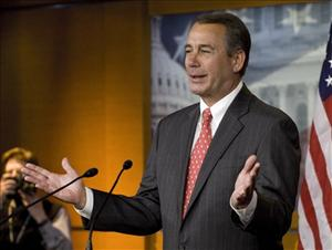 House Minority Leader John Boehner, R-Ohio, holds a news conference on Capitol Hill in Washington, D. C.,  Friday, Dec. 17, 2010.