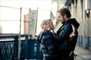 In this publicity image released by The Weinstein Company, Michelle Williams, left, and Ryan Gosling are shown in a scene from, Blue Valentine.