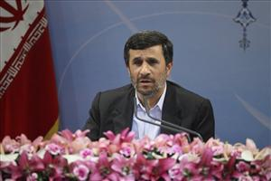 Iranian President Mahmoud Ahmadinejad speaks with media during his press conference in Tehran, Iran, Monday, Nov. 29, 2010.