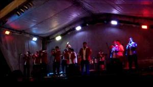 La Banda Excelencia de Jonathan Martinez onstage in Guadalajara.