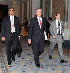 William Burns, Assistant US Secretary for East Asia, center, arrives for talks on Iran's nuclear program at the historical Ciragan Palace in Istanbul, Turkey, Friday, Jan. 21, 2011.