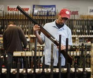 A man shops for guns in this file photo.