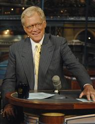 This file photo released by CBS, shows David Letterman during taping of The Late Show,  Sept. 4, 2007 in New York.