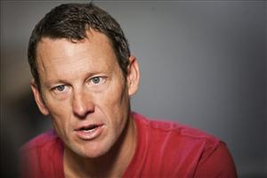 Lance Armstrong speaks during an interview in Austin, Texas, Tuesday, Feb. 15, 2011.