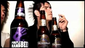 A screen grab from YouTube video about the beer.