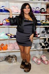 Nicole 'Snooki' Polizzi promotes her Snooki Slippers line.