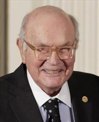 In this Nov. 17, 2010 photo, Harry W. Coover is shown at a ceremony for recipients of the National Medal of Science and the National Medal of Technology and Innovation at the White House in Washington.