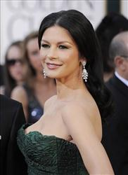Actress Catherine Zeta-Jones arrives at the Golden Globe Awards in Beverly Hills earlier this year.