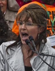 Sarah Palin speaks at a Tea Party rally Saturday in Madison, Wis.