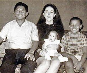 Barack Obama, 9, is seen with his mother, Ann Dunham, center, his Indonesian step-father, Lolo Soetoro, and his less than 1-year-old sister Maya Soetoro in Jakarta, Indonesia.